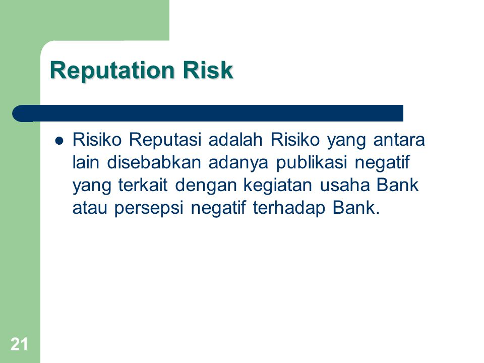 Reputation Risk