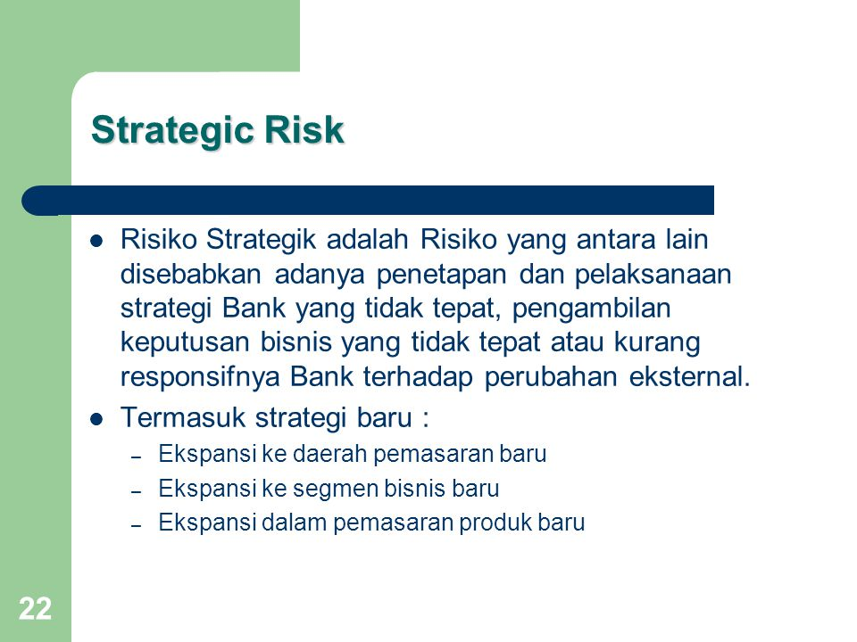 Strategic Risk