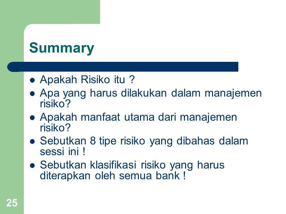 Summary Apakah Risiko itu
