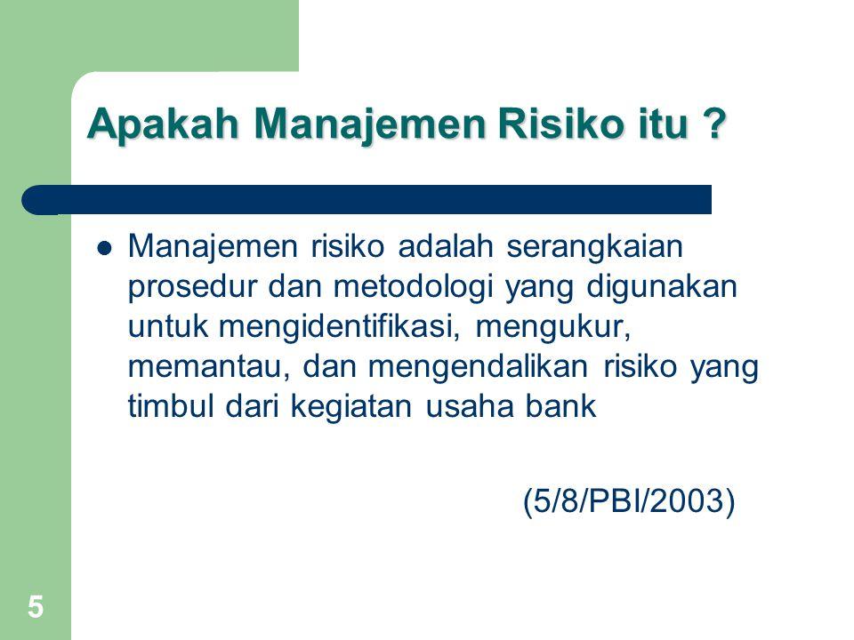 Apakah Manajemen Risiko itu