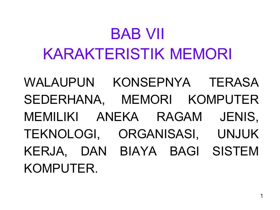 BAB VII KARAKTERISTIK MEMORI