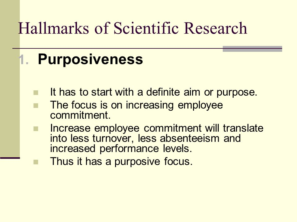 Hallmarks of Scientific Research