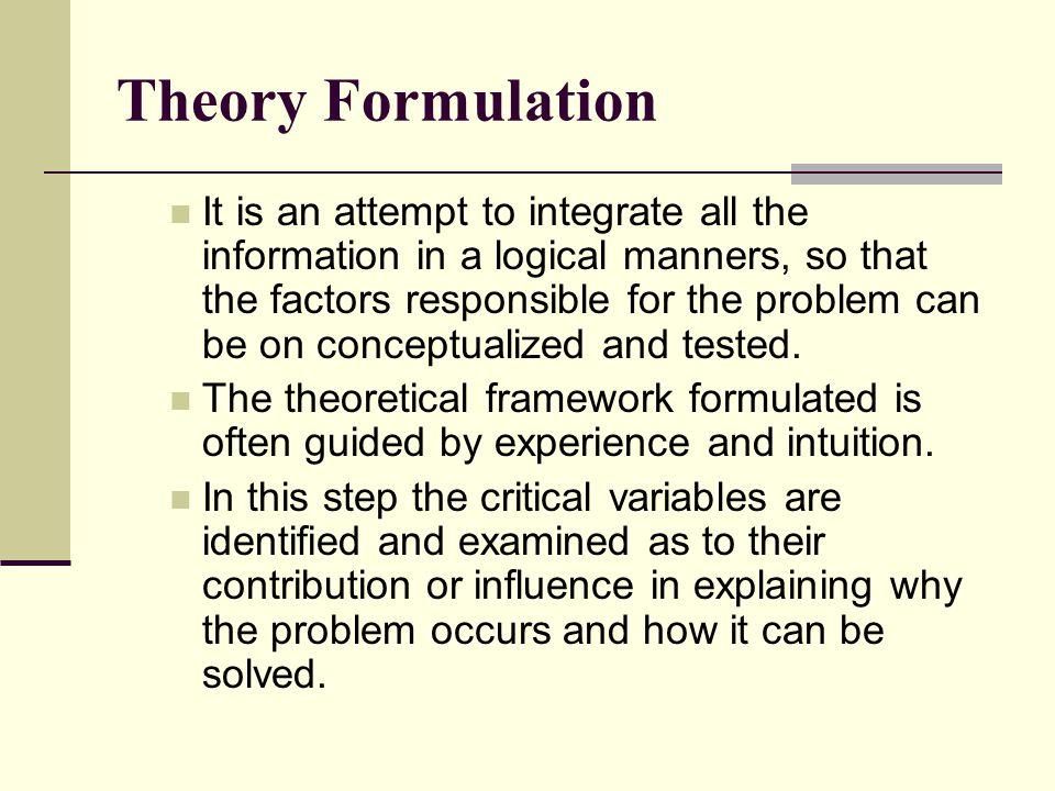 Theory Formulation