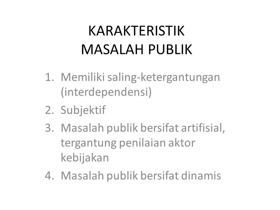 KARAKTERISTIK MASALAH PUBLIK