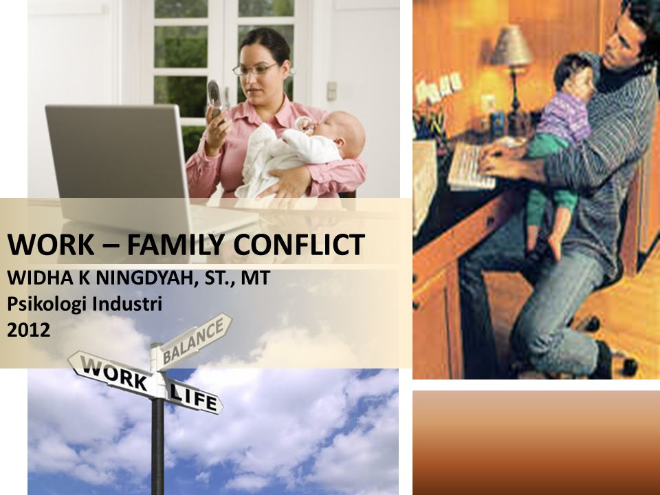 WORK – FAMILY CONFLICT WIDHA K NINGDYAH, ST., MT Psikologi Industri