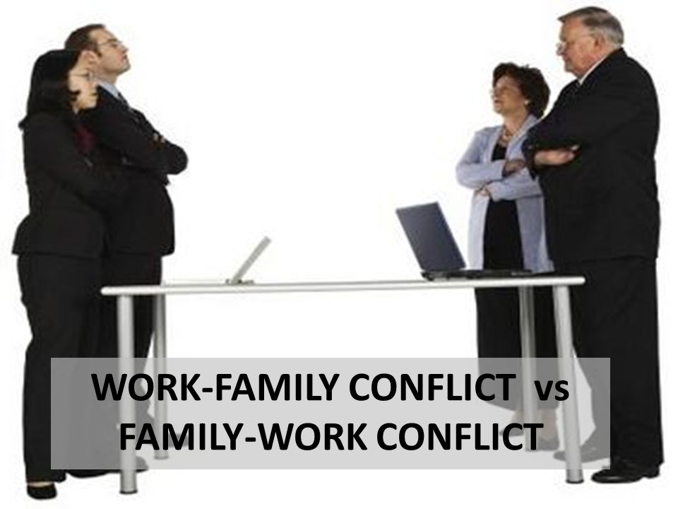 WORK-FAMILY CONFLICT vs FAMILY-WORK CONFLICT