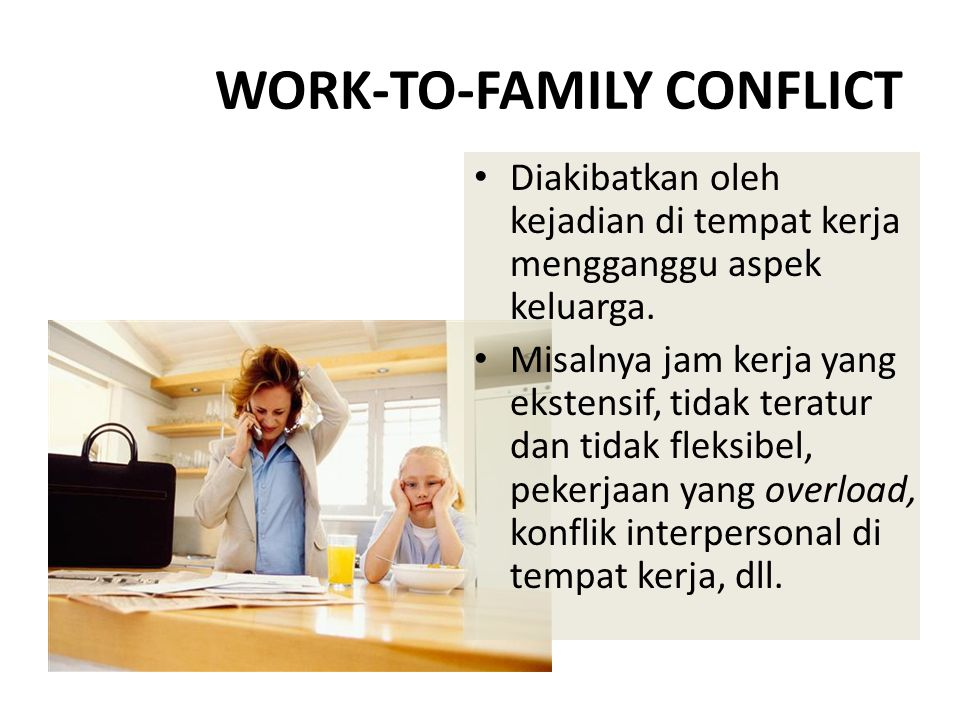 WORK-TO-FAMILY CONFLICT