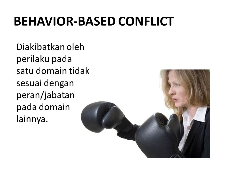 BEHAVIOR-BASED CONFLICT