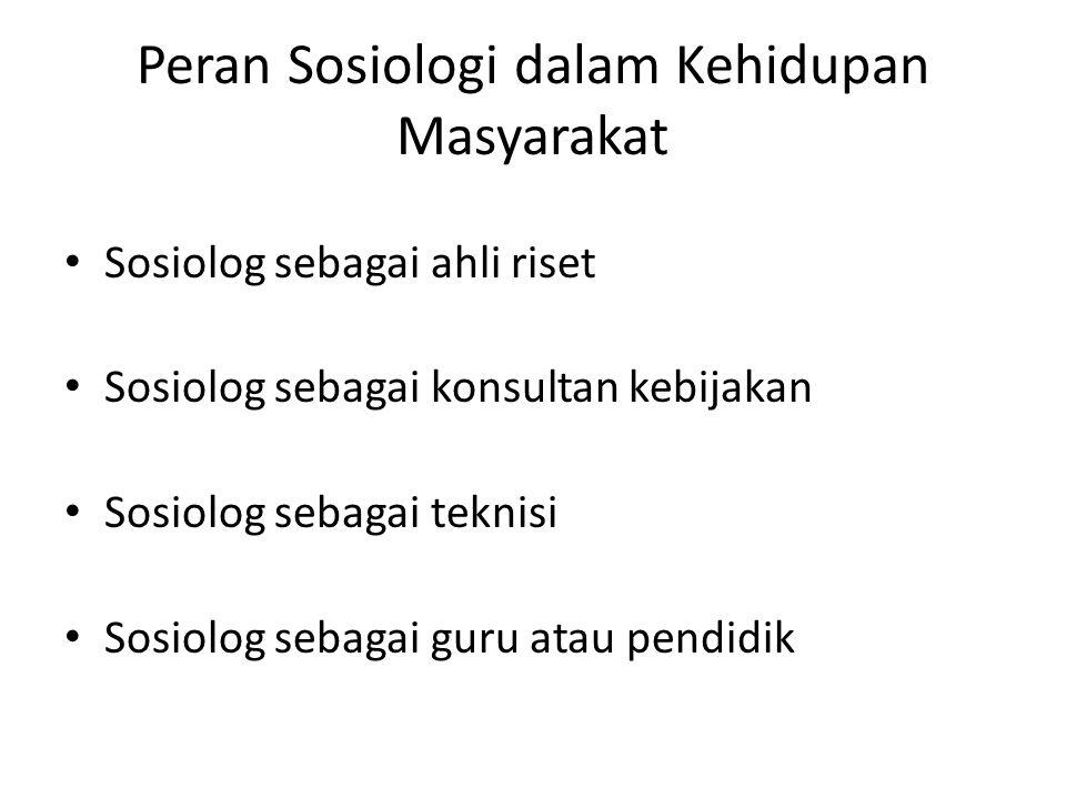 Peran Sosiologi dalam Kehidupan Masyarakat