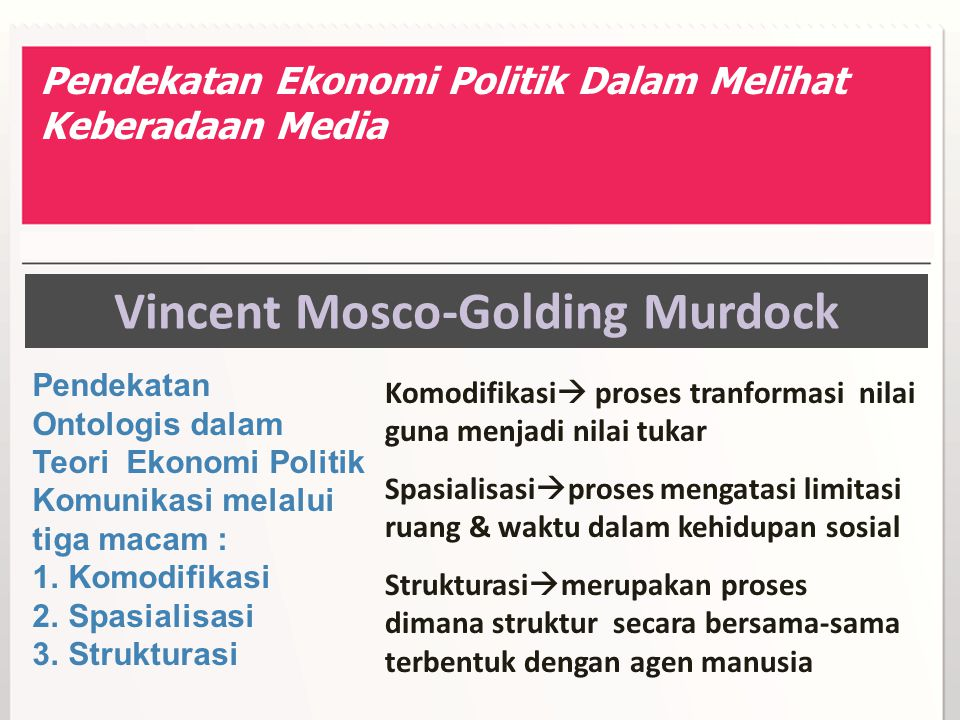 Vincent Mosco-Golding Murdock