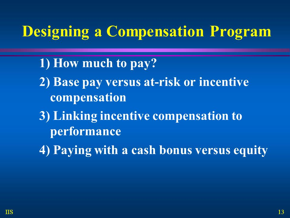 Designing a Compensation Program