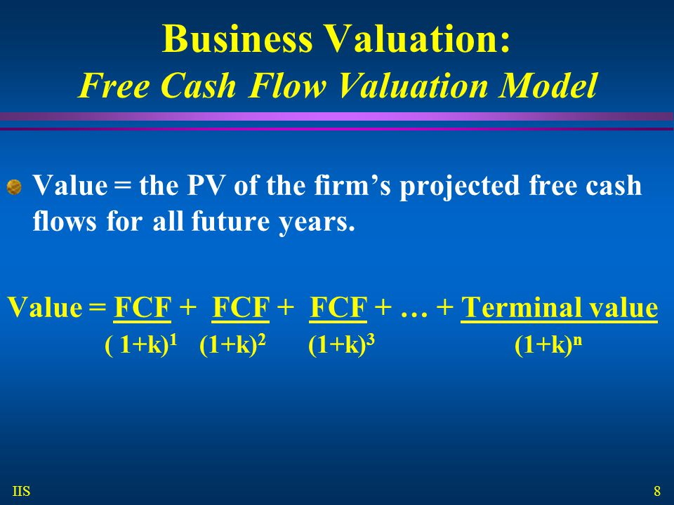 Business Valuation: Free Cash Flow Valuation Model