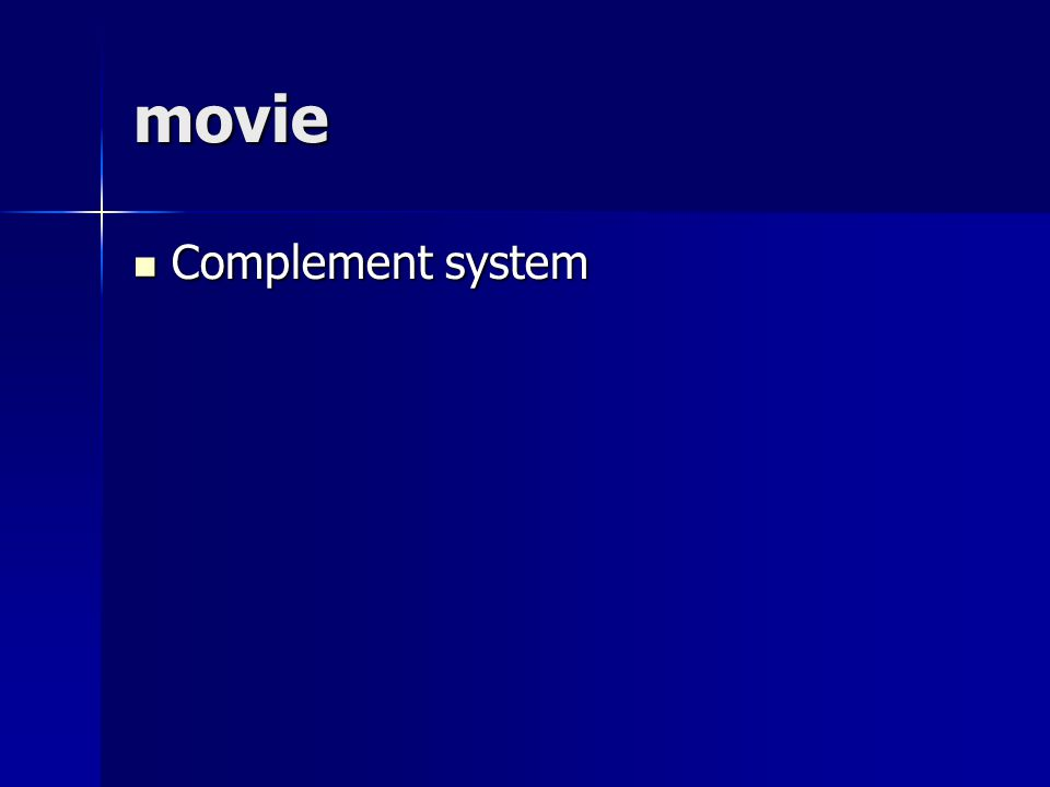 movie Complement system