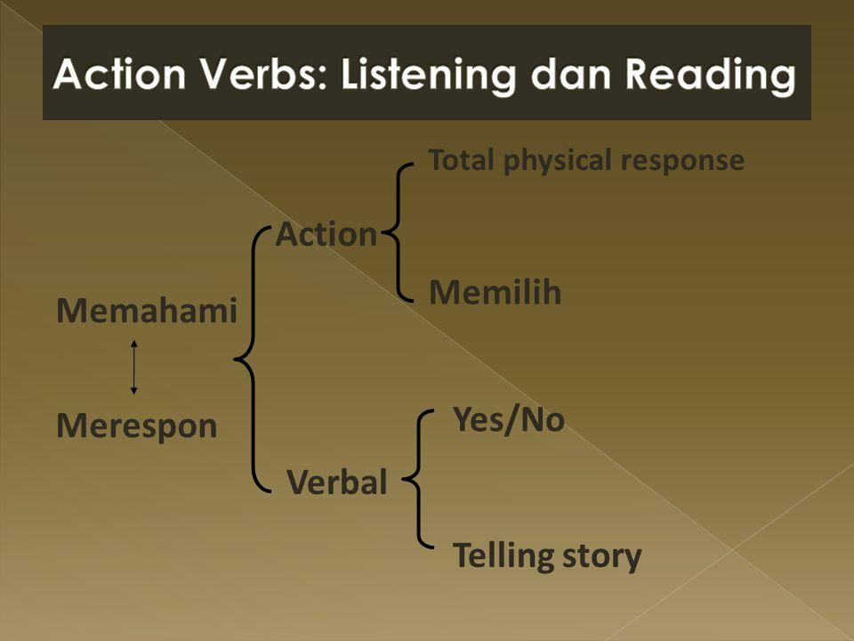 Action Verbs: Listening dan Reading