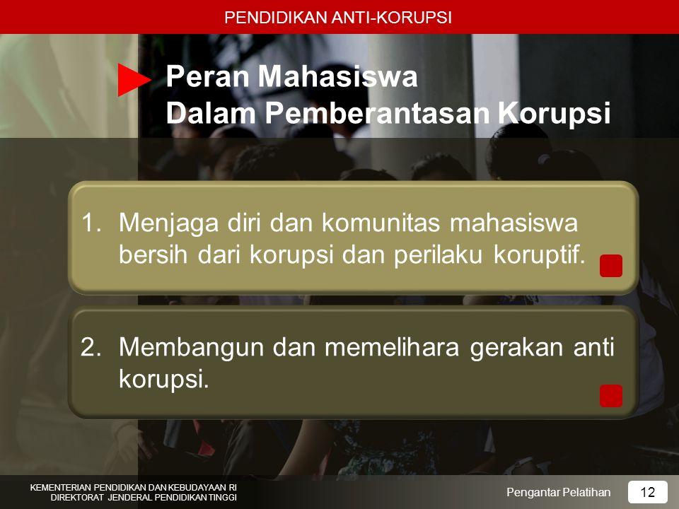 Peran Mahasiswa Dalam Pemberantasan Korupsi