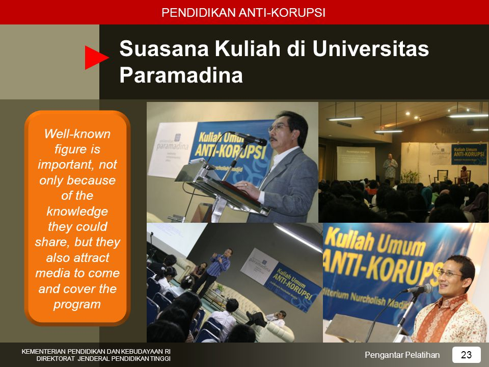Suasana Kuliah di Universitas Paramadina