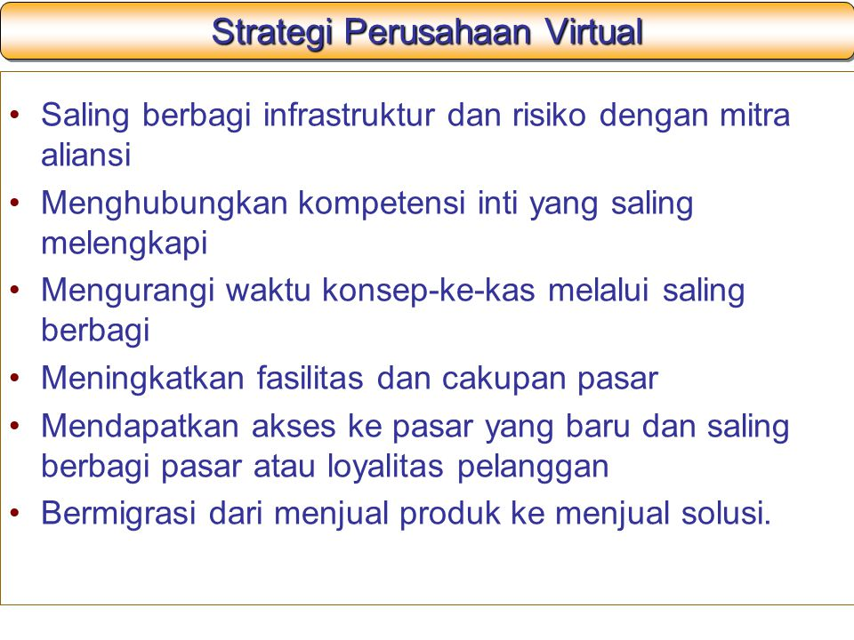 Strategi Perusahaan Virtual