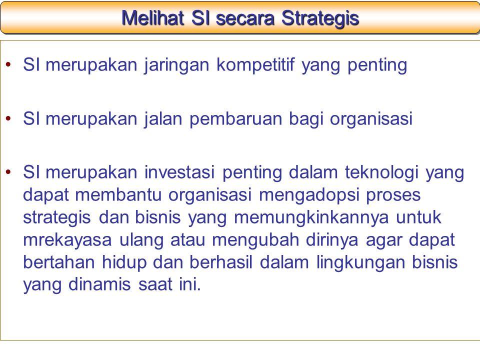 Melihat SI secara Strategis