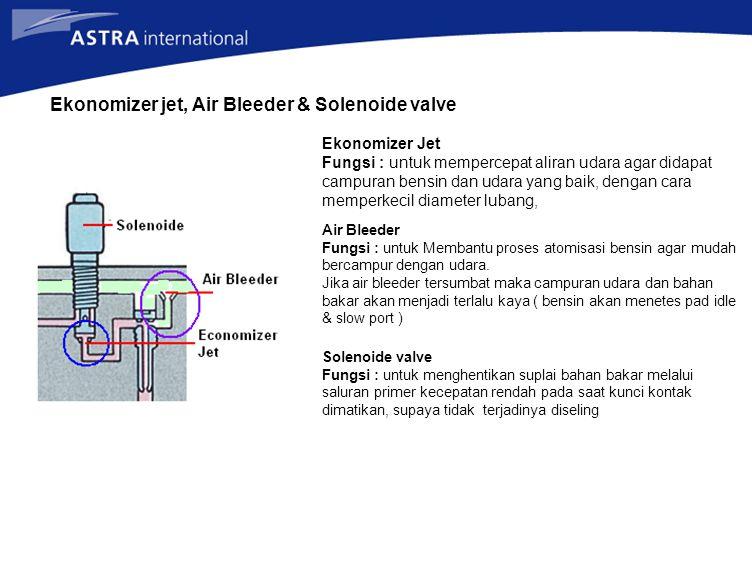 Ekonomizer jet, Air Bleeder & Solenoide valve