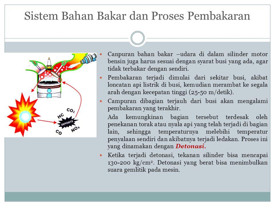 Sistem Bahan Bakar dan Proses Pembakaran