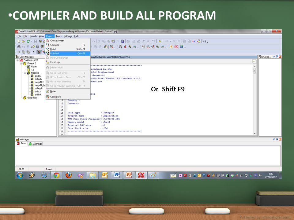 COMPILER AND BUILD ALL PROGRAM