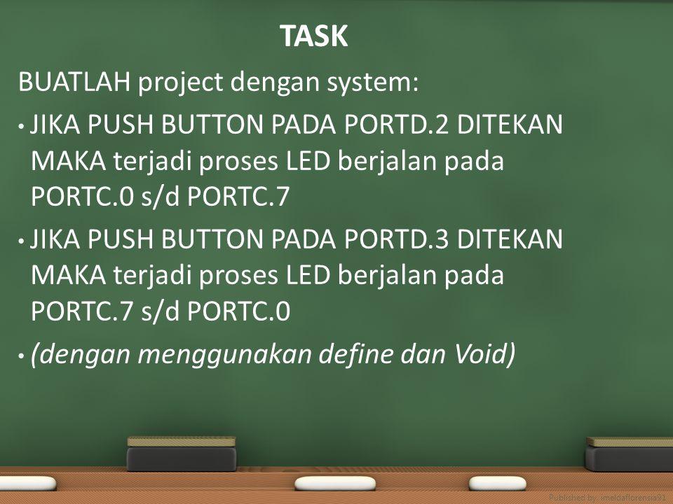 TASK BUATLAH project dengan system:
