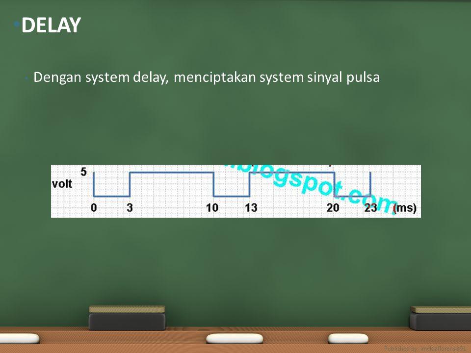 DELAY Dengan system delay, menciptakan system sinyal pulsa