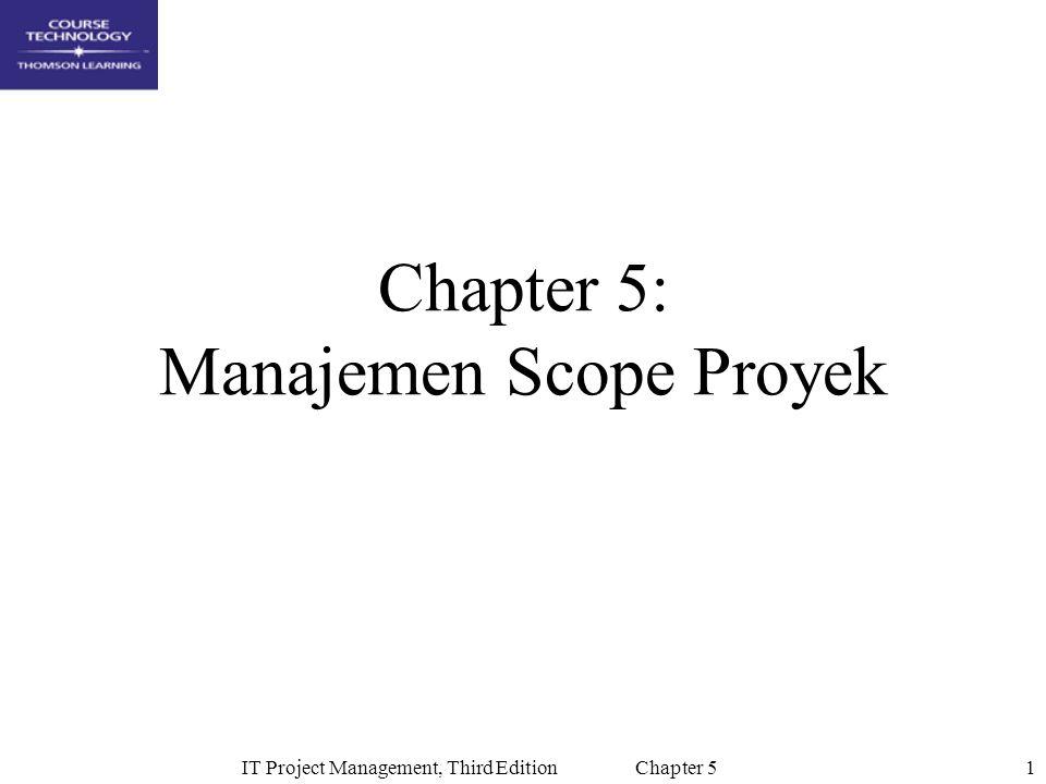 Chapter 5: Manajemen Scope Proyek