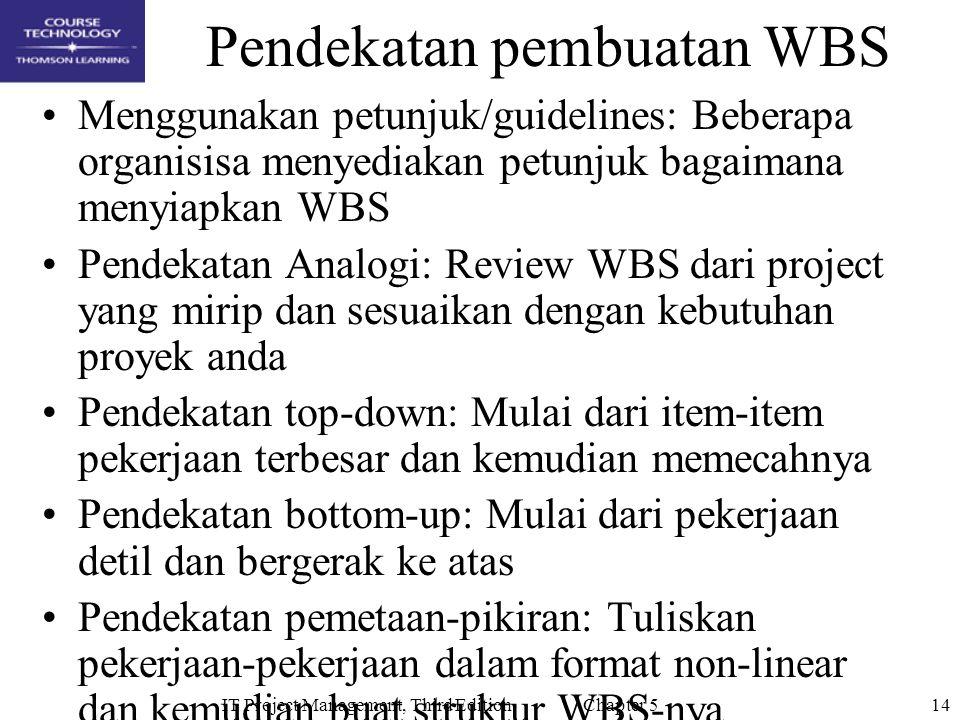 Pendekatan pembuatan WBS