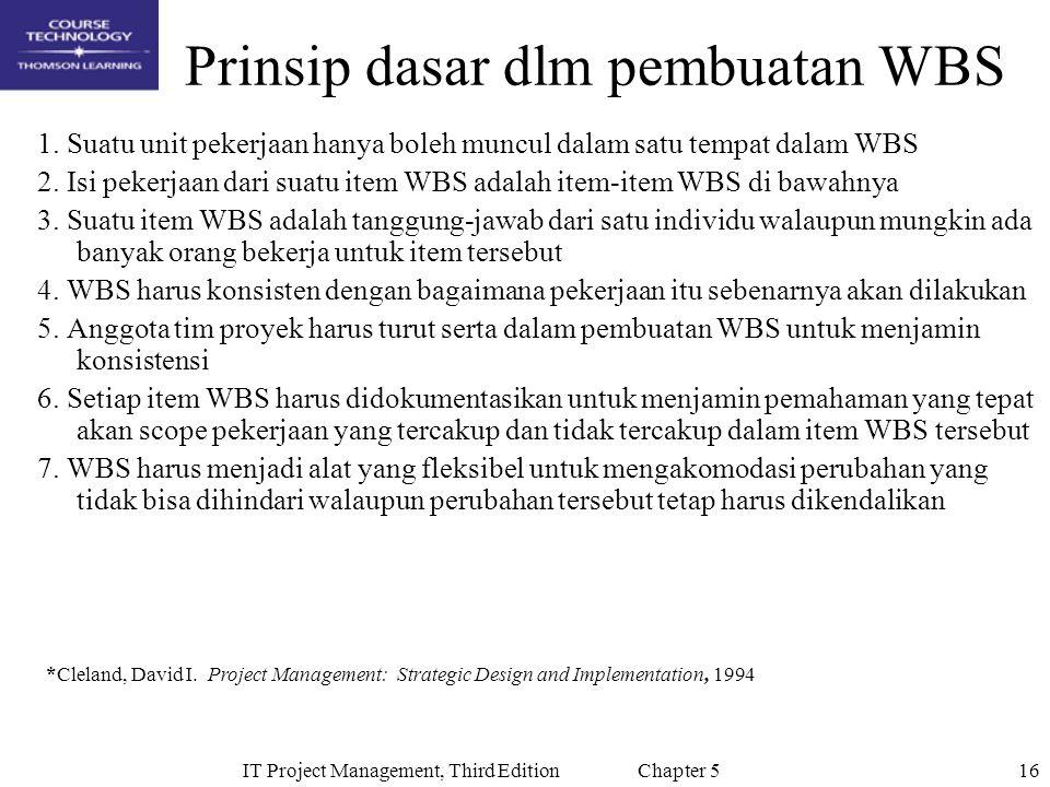 Prinsip dasar dlm pembuatan WBS