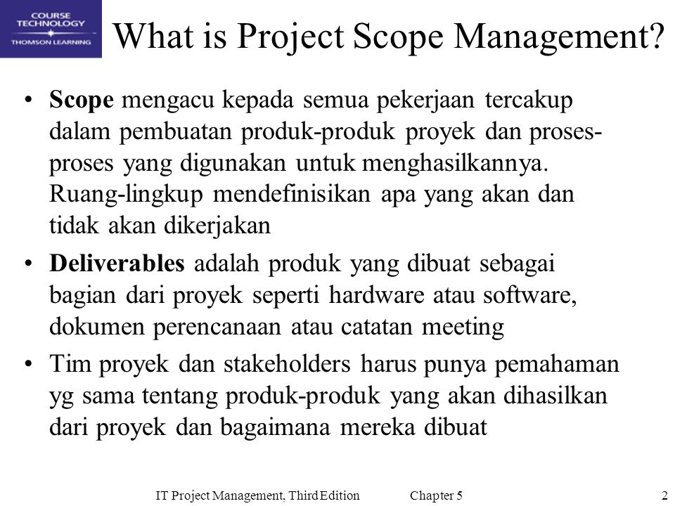 What is Project Scope Management