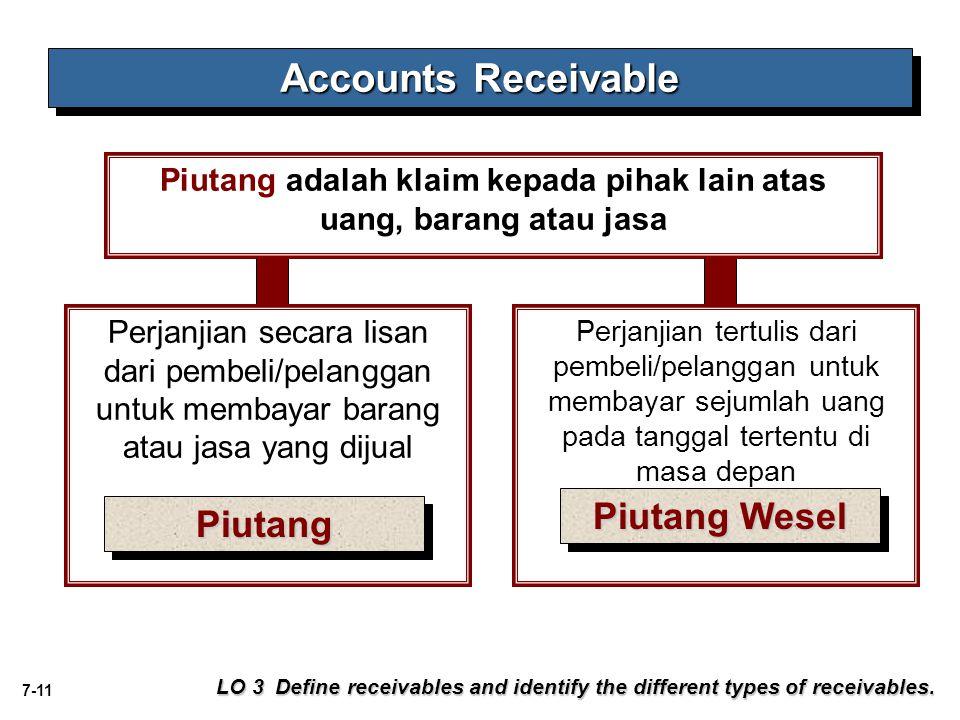 Piutang adalah klaim kepada pihak lain atas uang, barang atau jasa