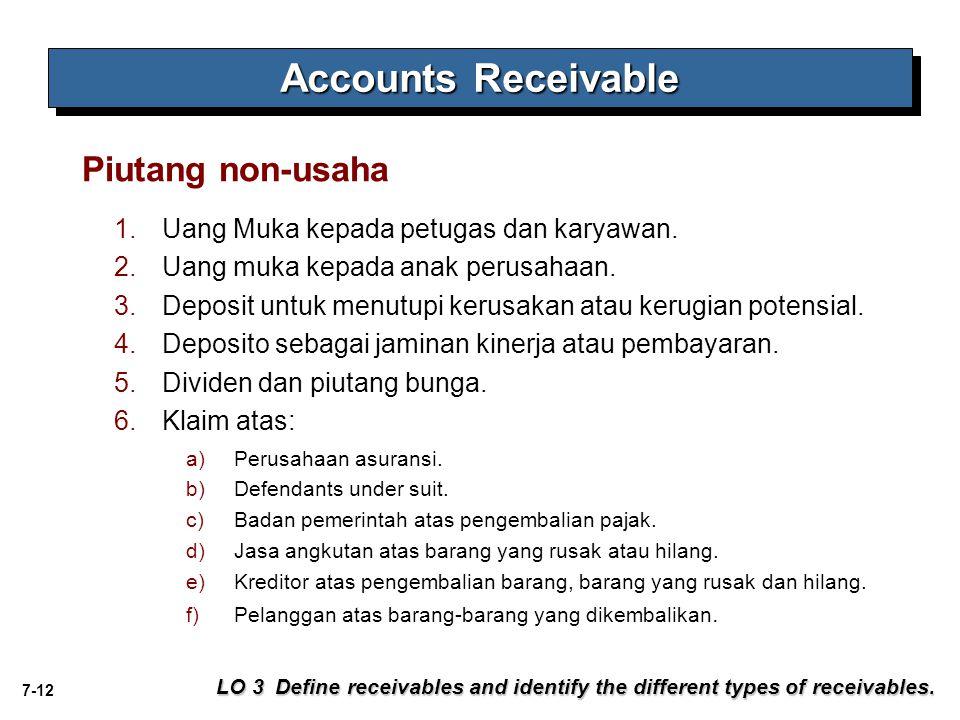 Accounts Receivable Piutang non-usaha