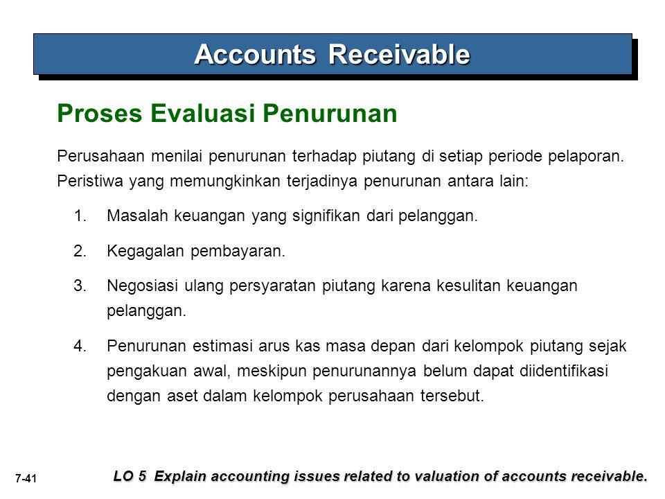 Accounts Receivable Proses Evaluasi Penurunan