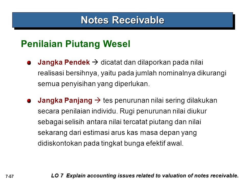 Notes Receivable Penilaian Piutang Wesel