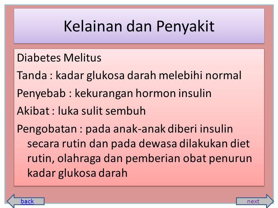 Kelainan dan Penyakit Diabetes Melitus