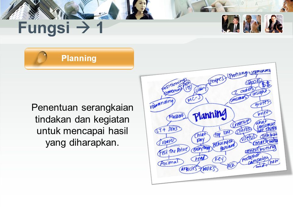 Fungsi  1 Planning.