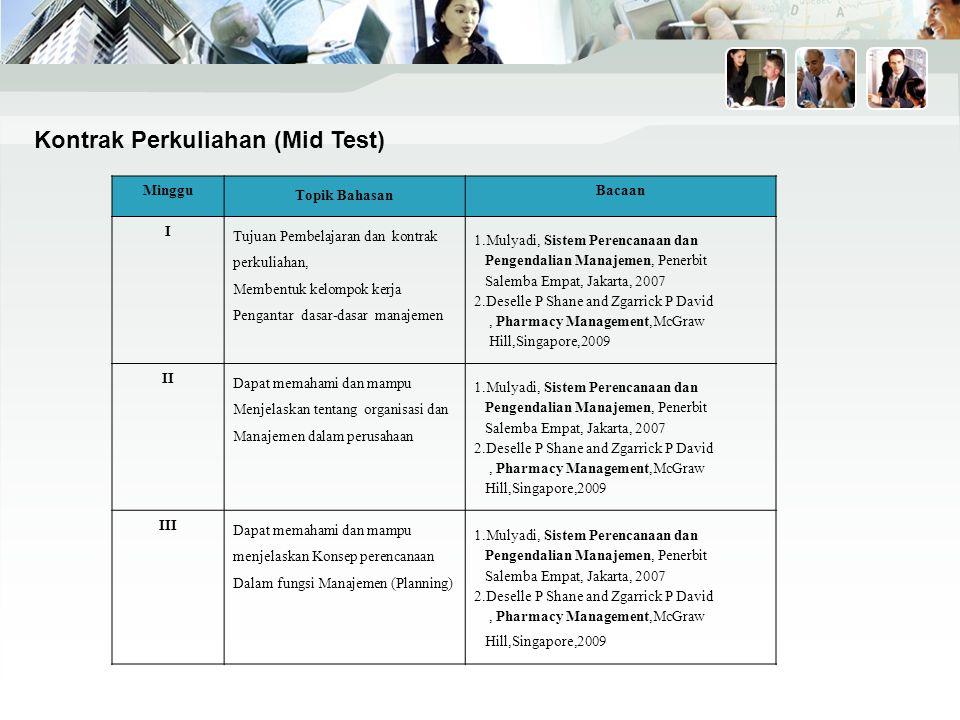 Kontrak Perkuliahan (Mid Test)
