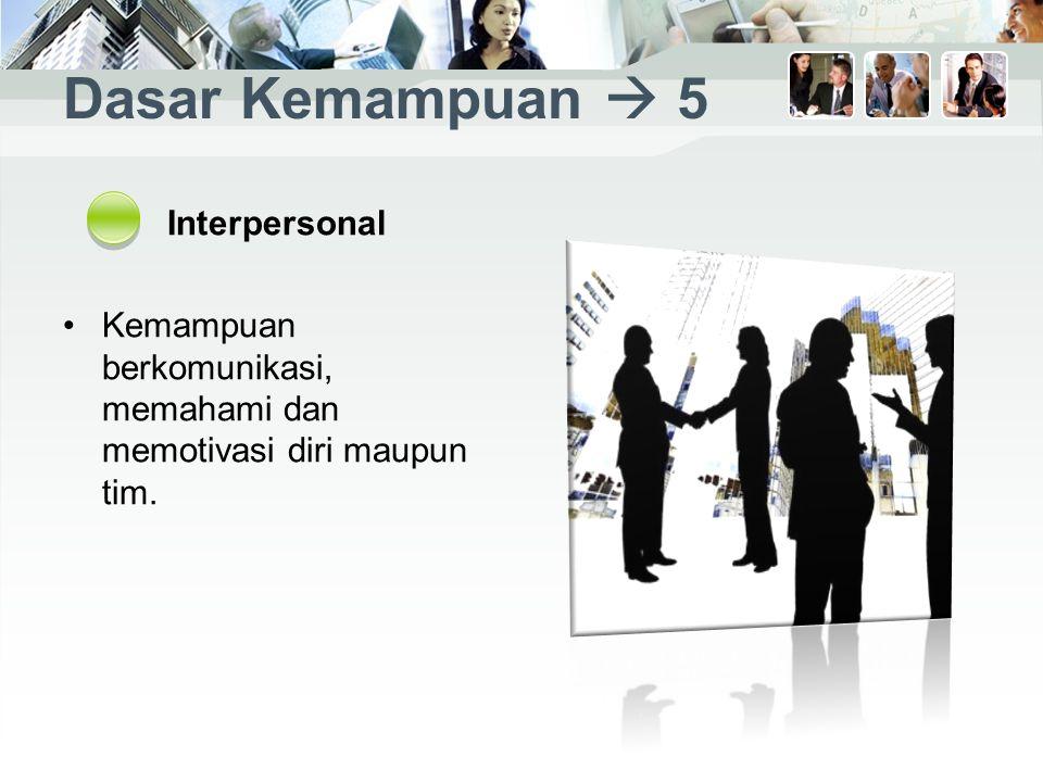 Dasar Kemampuan  5 Interpersonal