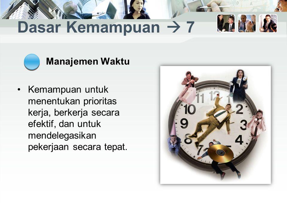 Dasar Kemampuan  7 Manajemen Waktu