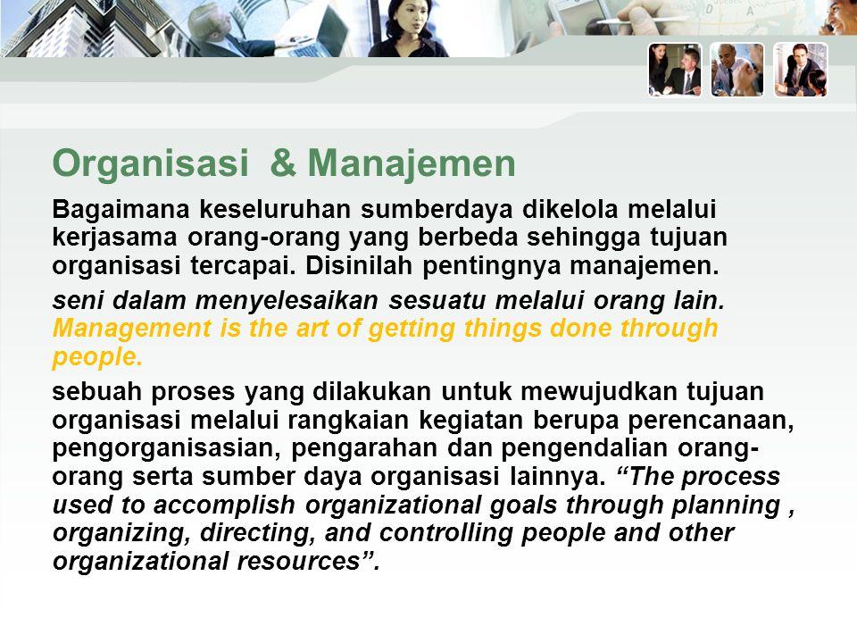 Organisasi & Manajemen