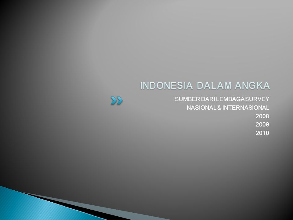 INDONESIA DALAM ANGKA SUMBER DARI LEMBAGA SURVEY