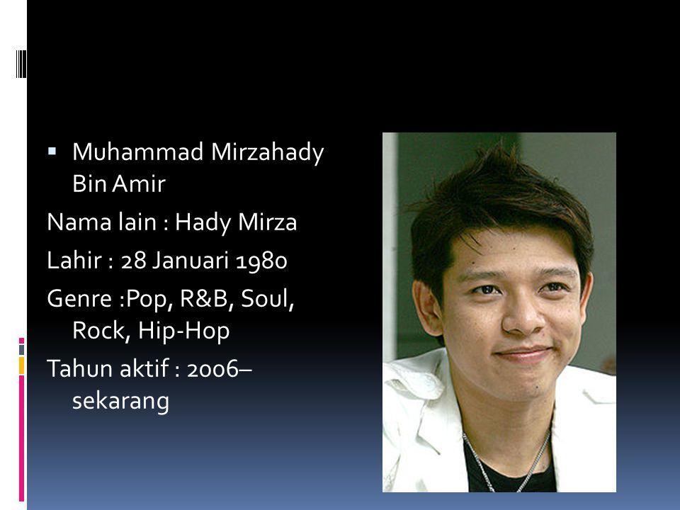 Muhammad Mirzahady Bin Amir