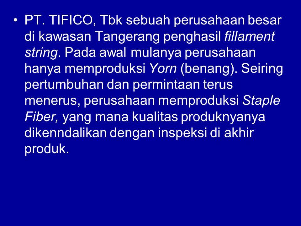 PT. TIFICO, Tbk sebuah perusahaan besar di kawasan Tangerang penghasil fillament string.
