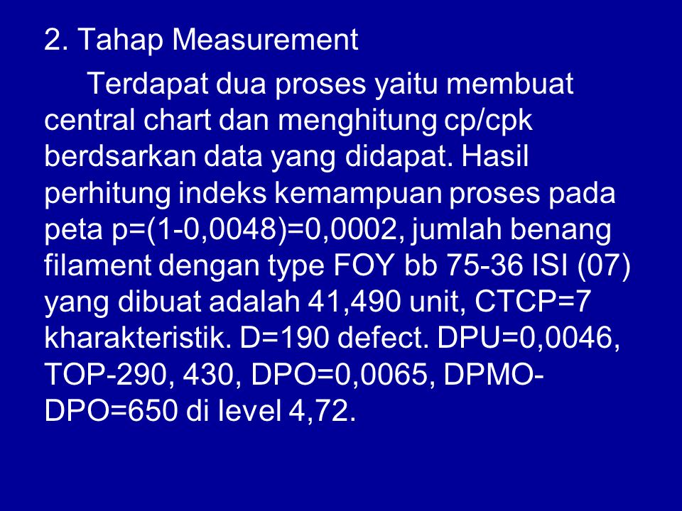 2. Tahap Measurement