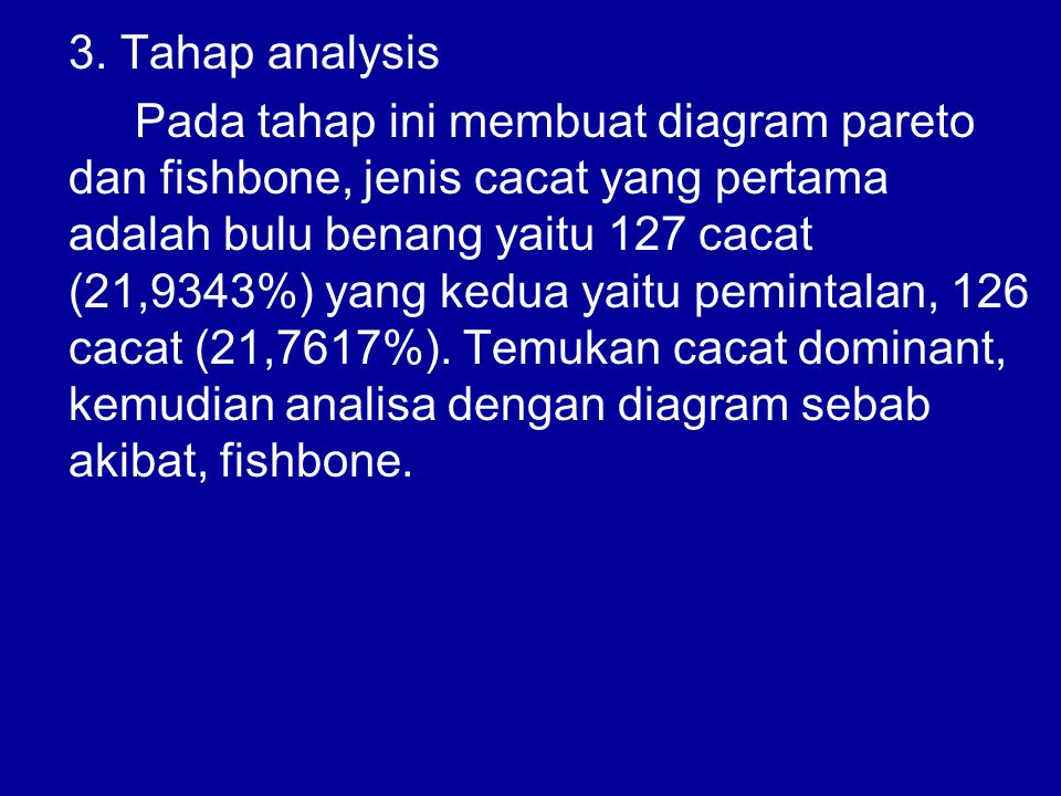 3. Tahap analysis