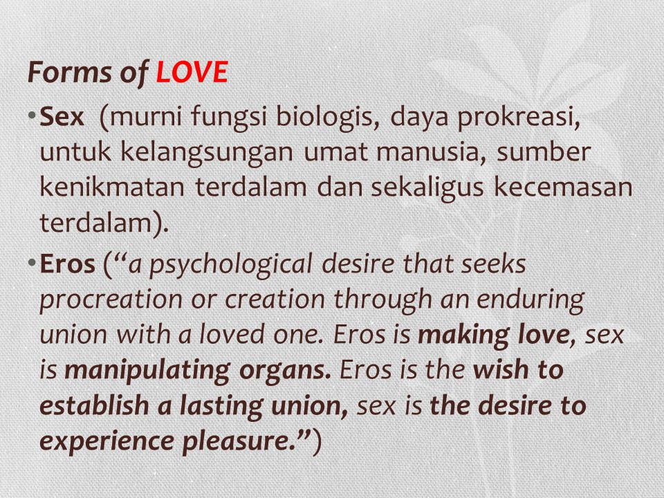 Forms of LOVE