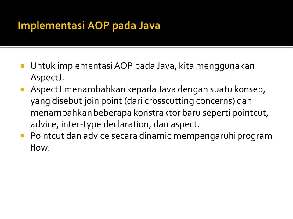 Implementasi AOP pada Java