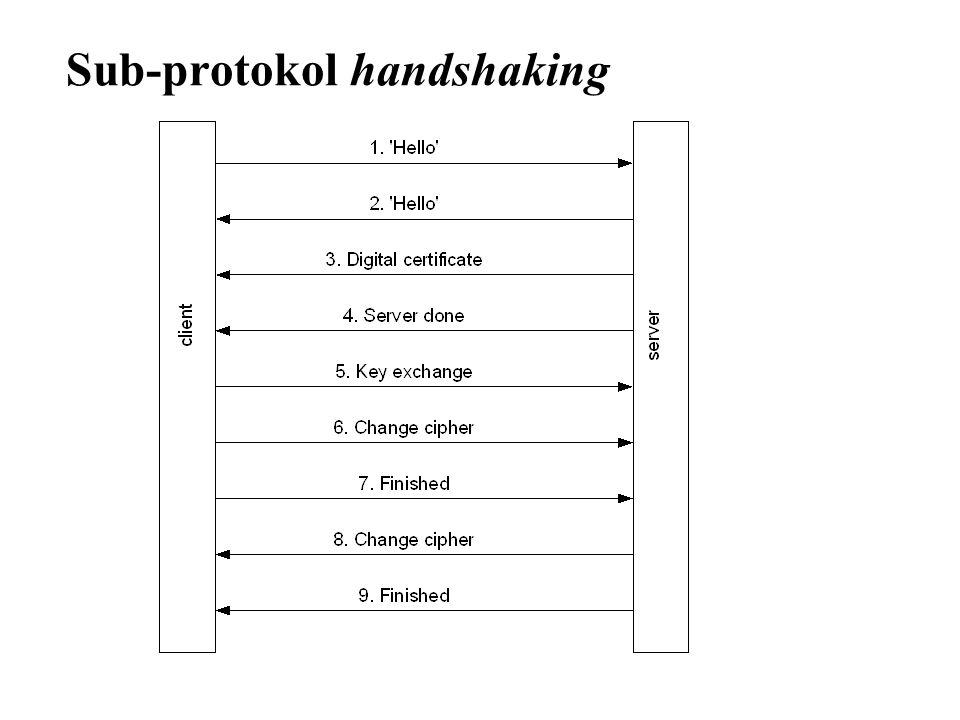 Sub-protokol handshaking