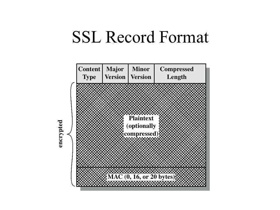 SSL Record Format